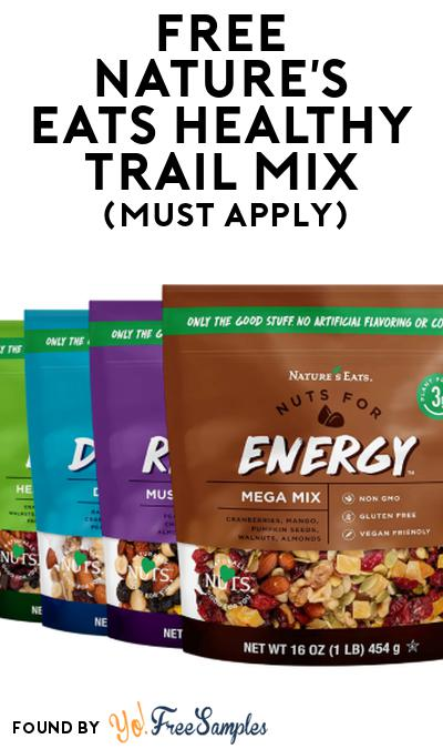 FREE Nature's Eats Healthy Trail Mix At Social Nature (Must Apply)