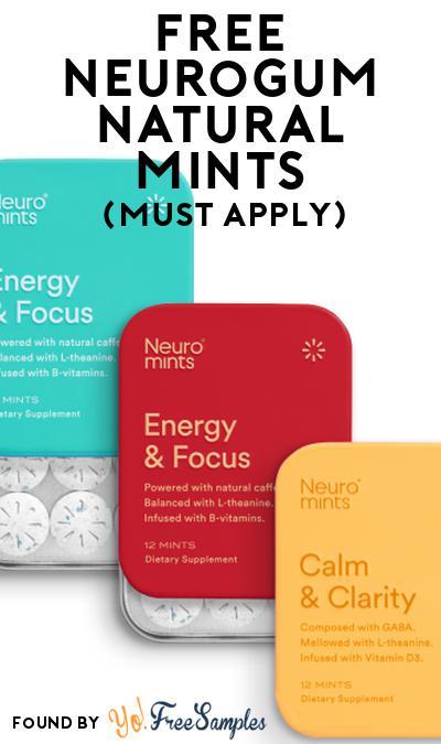 FREE NeuroGum Natural Mints At Social Nature (Must Apply)