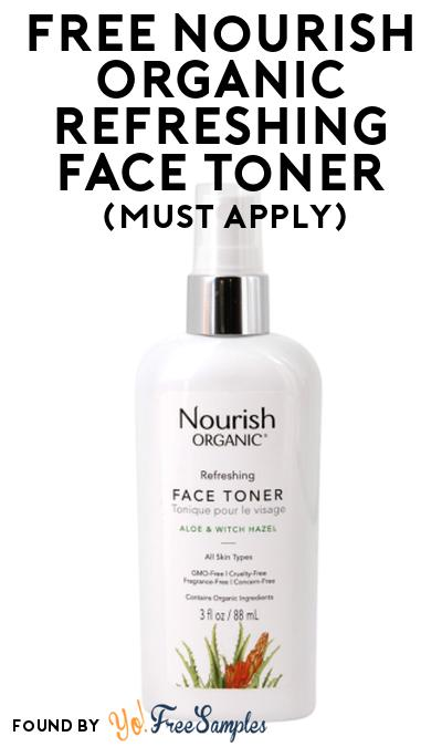 FREE Nourish Organic Refreshing Face Toner At Social Nature (Must Apply)
