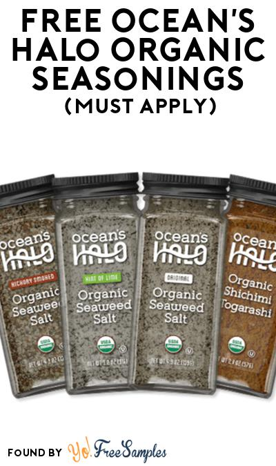 FREE Ocean's Halo Organic Seasonings At Social Nature (Must Apply)