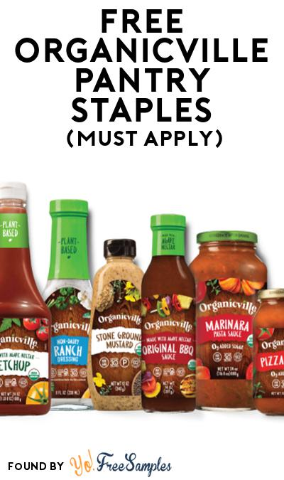 FREE Organicville Pantry Staples At Social Nature (Must Apply)