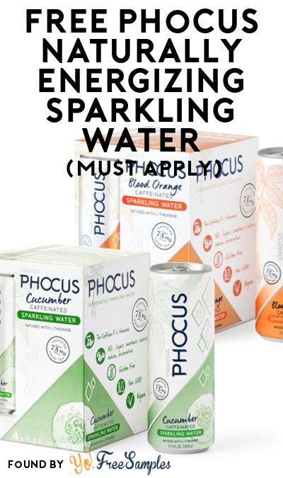 FREE Phocus Naturally Energizing Sparkling Water At Social Nature (Must Apply)