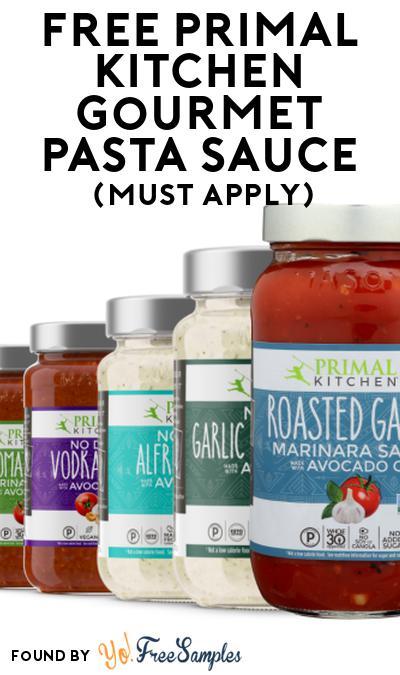 FREE Primal Kitchen Gourmet Pasta Sauce At Social Nature (Must Apply)