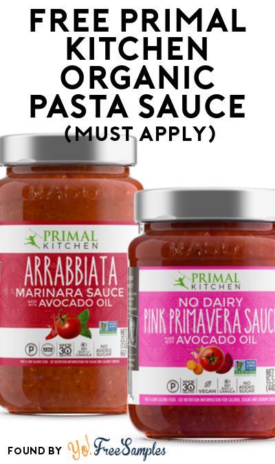 FREE Primal Kitchen Organic Pasta Sauce At Social Nature (Must Apply)