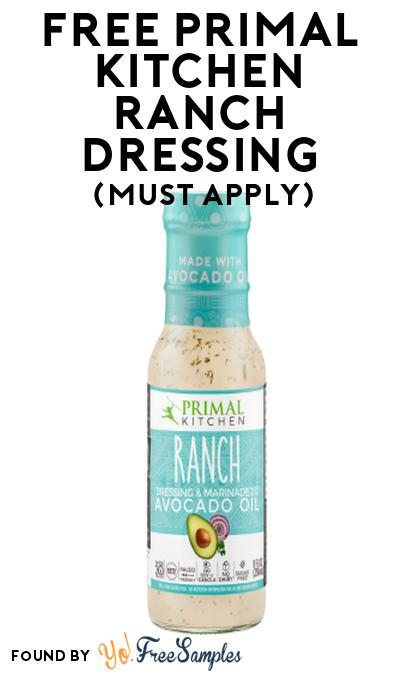FREE Primal Kitchen Ranch Dressing At Social Nature (Must Apply)