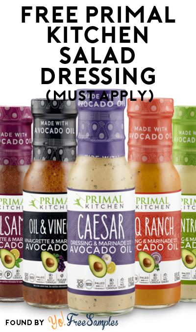FREE Primal Kitchen Salad Dressing At Social Nature (Must Apply)