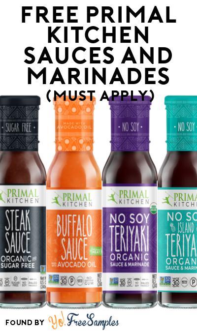 FREE Primal Kitchen Sauces & Marinades At Social Nature (Must Apply)