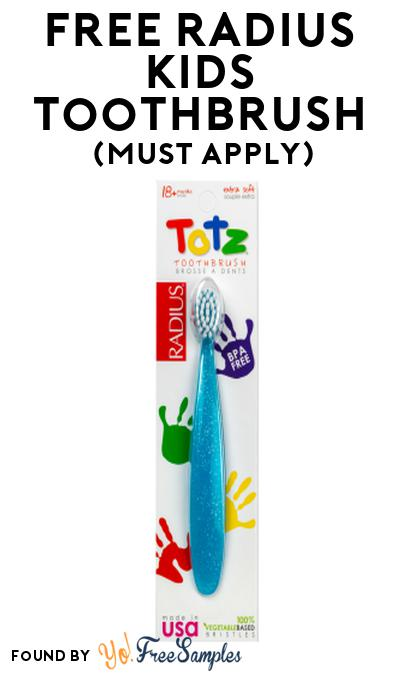 FREE RADIUS Kids Toothbrush At Social Nature (Must Apply)
