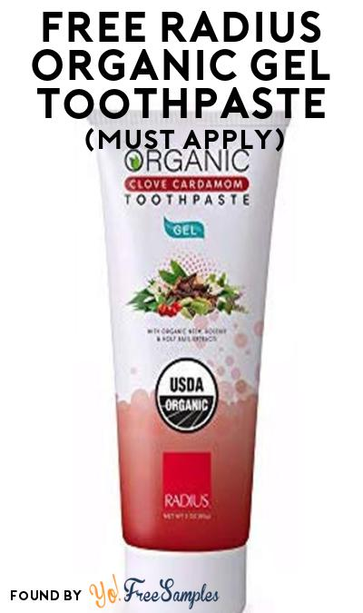 FREE RADIUS Organic Gel Toothpaste At Social Nature (Must Apply)