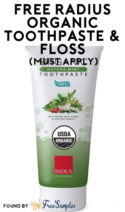 FREE RADIUS Organic Toothpaste & Floss At Social Nature (Must Apply)