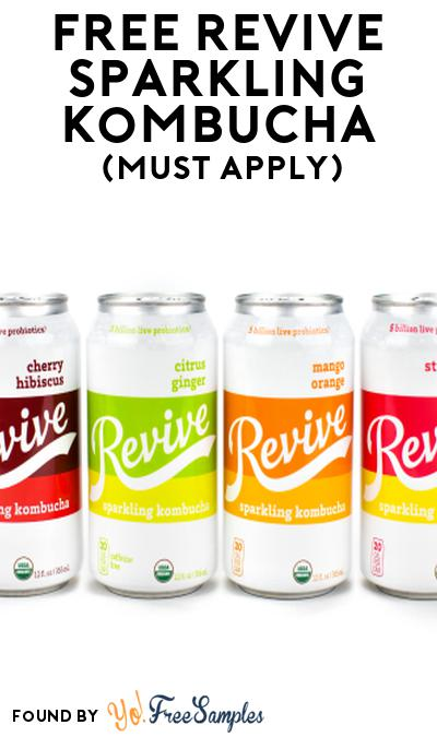 FREE Revive Sparkling Kombucha At Social Nature (Must Apply)