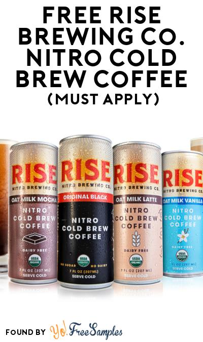 FREE Rise Brewing Co. Nitro Cold Brew Coffee At Social Nature (Must Apply)