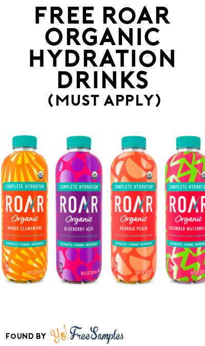FREE Roar Organic Hydration Drinks At Social Nature (Must Apply)