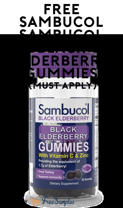 FREE Sambucol Black Elderberry Gummies At Social Nature (Must Apply)