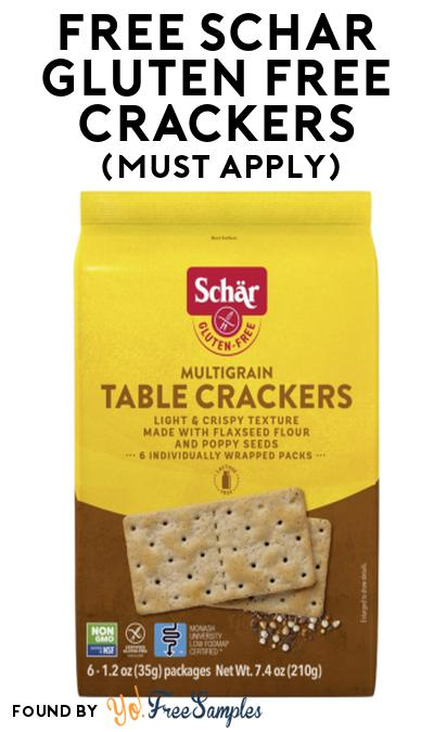 FREE Schar Gluten Free Crackers At Social Nature (Must Apply)
