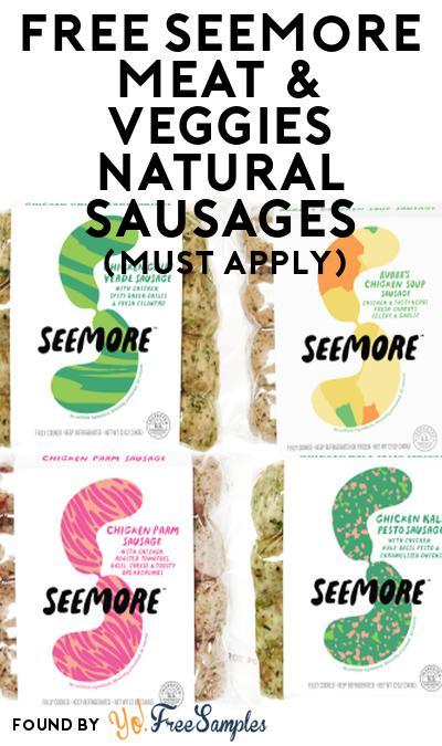 FREE Seemore Meat & Veggies Natural Sausages At Social Nature (Must Apply)
