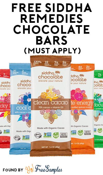 FREE Siddha Remedies Chocolate Bars At Social Nature (Must Apply)