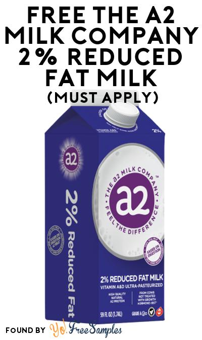 FREE The A2 Milk Company 2% Reduced Fat Milk At Social Nature (Must Apply)