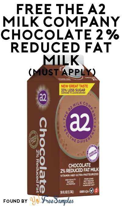 FREE The A2 Milk Company Chocolate 2% Reduced Fat Milk At Social Nature (Must Apply)