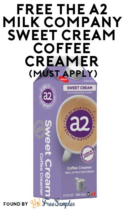 FREE The A2 Milk Company Sweet Cream Coffee Creamer At Social Nature (Must Apply)