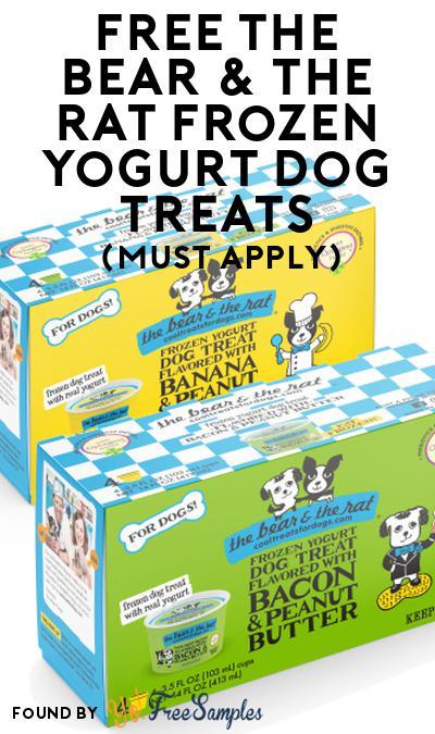 FREE The Bear & The Rat Frozen Yogurt Dog Treats At Social Nature (Must Apply)
