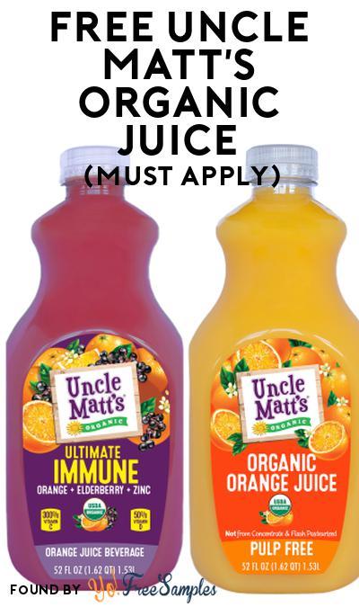 FREE Uncle Matt's Organic Juice At Social Nature (Must Apply)