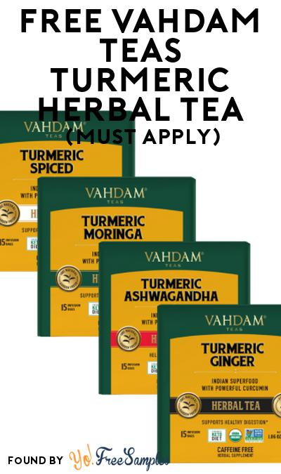 FREE Vahdam Teas Turmeric Herbal Tea At Social Nature (Must Apply)