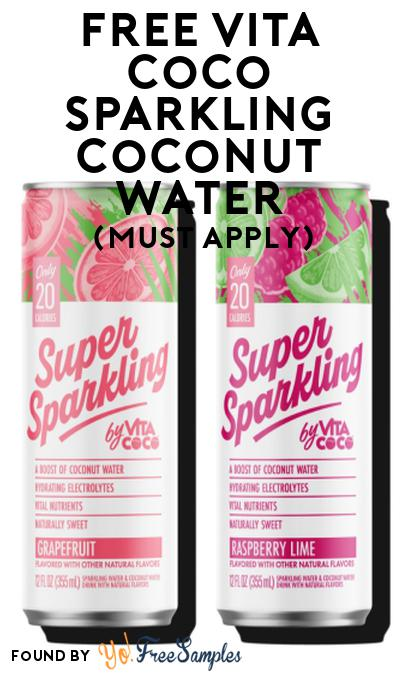 FREE Vita Coco Sparkling Coconut Water At Social Nature (Must Apply)