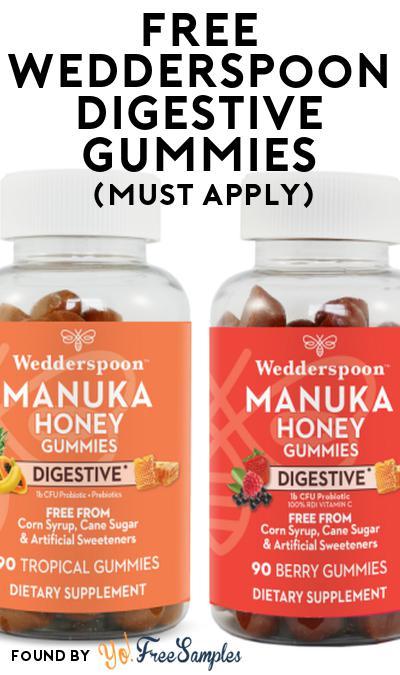 FREE Wedderspoon Digestive Gummies At Social Nature (Must Apply)