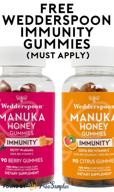 FREE Wedderspoon Immunity Gummies At Social Nature (Must Apply)
