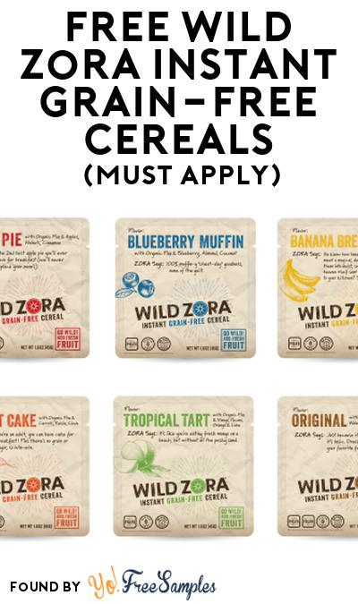 FREE Wild Zora Instant Grain-Free Cereals At Social Nature (Must Apply)