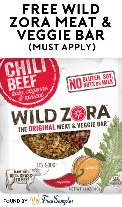 FREE Wild Zora Meat & Veggie Bar At Social Nature (Must Apply)