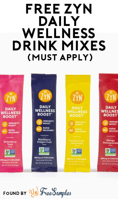 FREE ZYN Daily Wellness Drink Mixes At Social Nature (Must Apply)