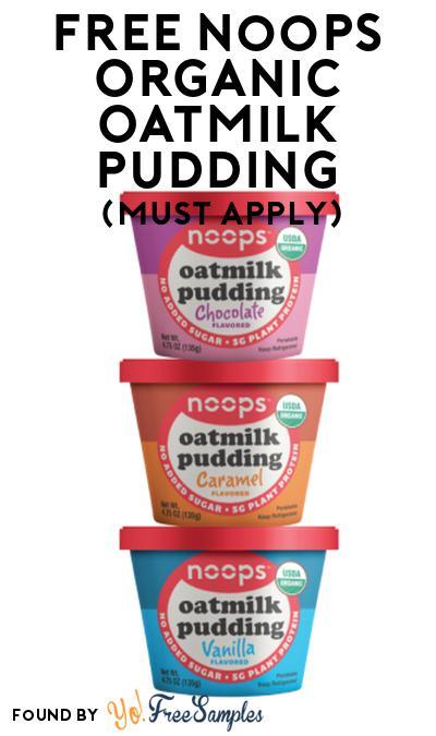 FREE noops Organic Oatmilk Pudding At Social Nature (Must Apply)