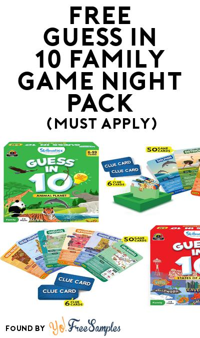 FREE Guess in 10 Family Game Night Pack (Must Apply To Host Tryazon Party)