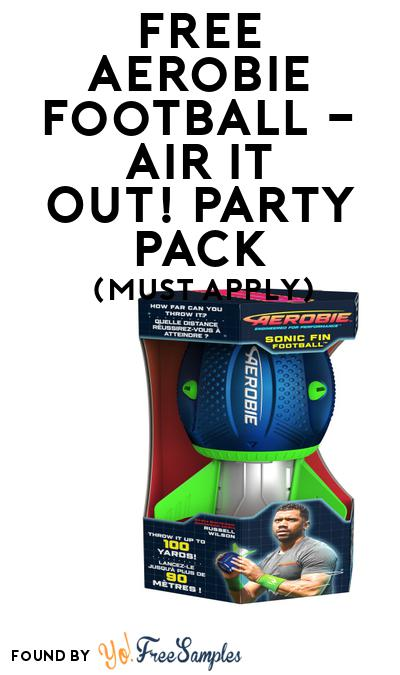 FREE Aerobie Football – Air it Out! Party Pack (Must Apply To Host Tryazon Party)