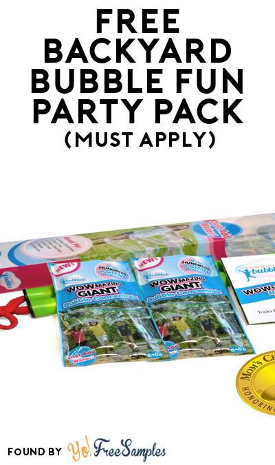FREE Backyard Bubble Fun Party Pack (Must Apply To Host Tryazon Party)