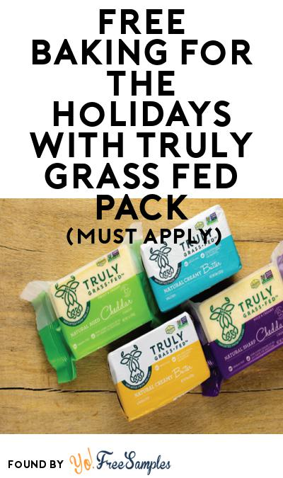 FREE Baking for the Holidays with Truly Grass Fed Pack (Must Apply To Host Tryazon Party)