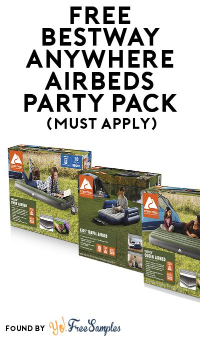 FREE Bestway Anywhere Airbeds Party Pack (Must Apply To Host Tryazon Party)