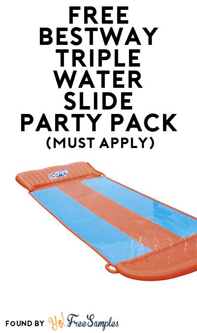 FREE Bestway Triple Water Slide Party Pack (Must Apply To Host Tryazon Party)