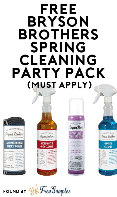 FREE Bryson Brothers Spring Cleaning Party Pack (Must Apply To Host Tryazon Party)