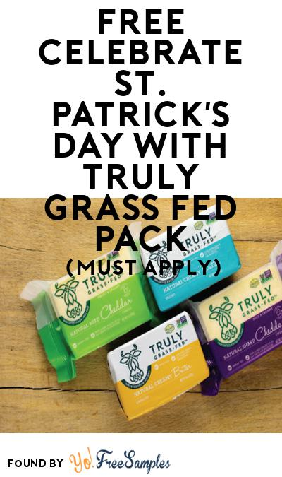FREE Celebrate St. Patrick's Day with Truly Grass Fed Pack (Must Apply To Host Tryazon Party)