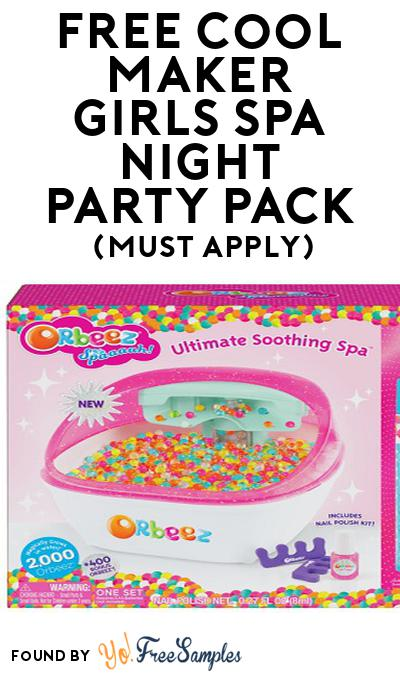 FREE Cool Maker Girls Spa Night Party Pack (Must Apply To Host Tryazon Party)