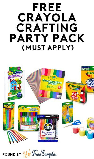 FREE Crayola Crafting Party Pack (Must Apply To Host Tryazon Party)