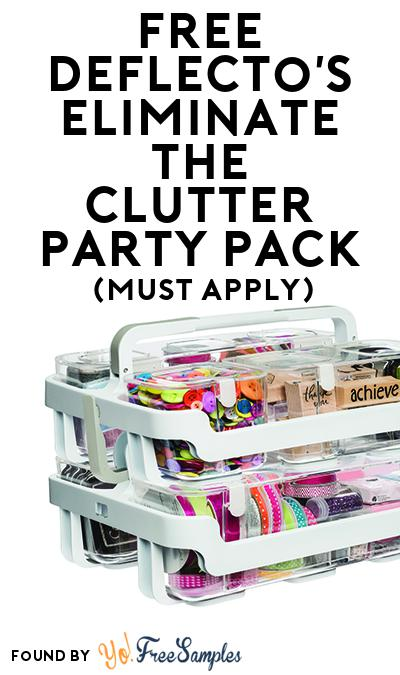 FREE Deflecto's Eliminate the Clutter Party Pack (Must Apply To Host Tryazon Party)