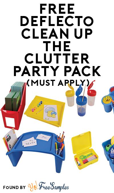 FREE Deflecto Clean up the Clutter Party Pack (Must Apply To Host Tryazon Party)