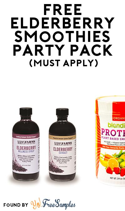 FREE Elderberry Smoothies Party Pack (Must Apply To Host Tryazon Party)