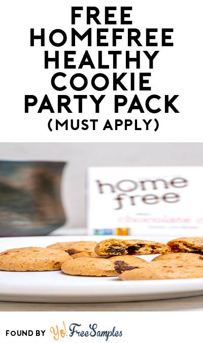 FREE Homefree Healthy Cookie Party Pack (Must Apply To Host Tryazon Party)