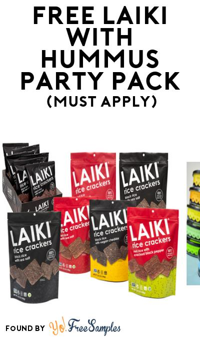 FREE Laiki with Hummus Party Pack (Must Apply To Host Tryazon Party)