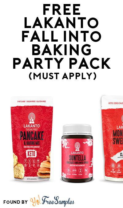 FREE Lakanto Fall Into Baking Party Pack (Must Apply To Host Tryazon Party)